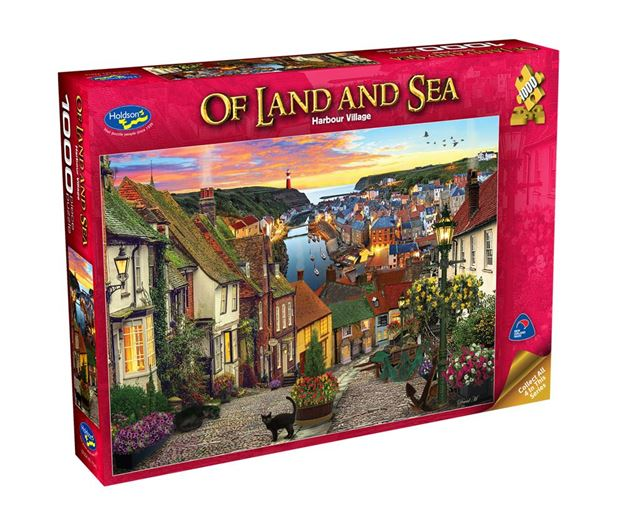 Picture of Holdson Puzzle - Of Land And Sea 1000pc (Harbour Village)