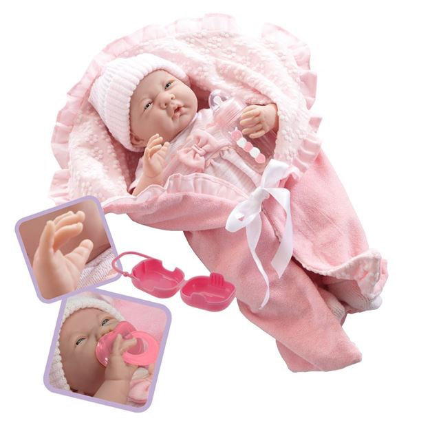 Picture of Dolls - Soft Body In Pink Bunting (39cm)