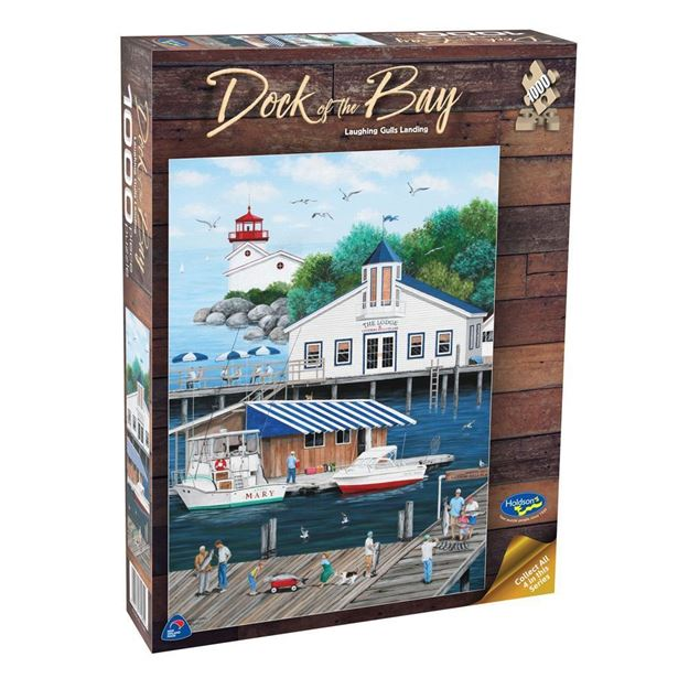 Picture of Holdson Puzzle  - Dock of the Bay 1000pc (Laughing Gulls Landing)