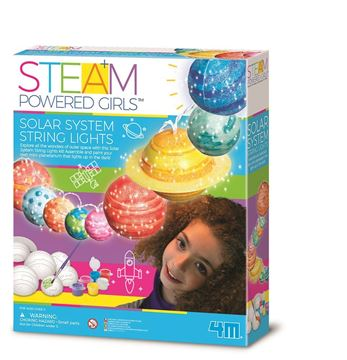 Picture of 4M STEAM Powered Girls - Solar System String Lights