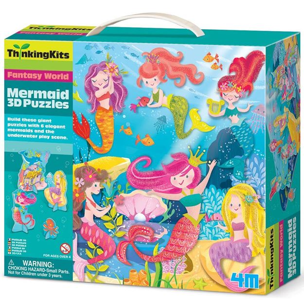 Picture of 4M Thinking Kits - 3D Puzzle - Mermaid