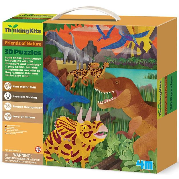 Picture of 4M Thinking Kits - 3D Puzzle - Dinosaurs