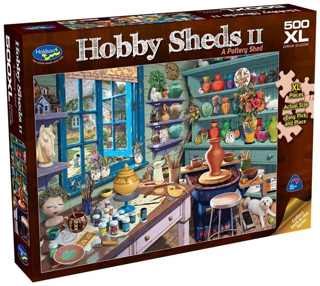 Picture of Holdson Puzzle - The Hobby Sheds 2 500pc XL (A Pottery Shed)