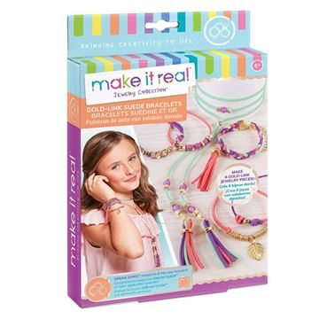 Picture of Make It Real - Gold Link Suede Charm Bracelets