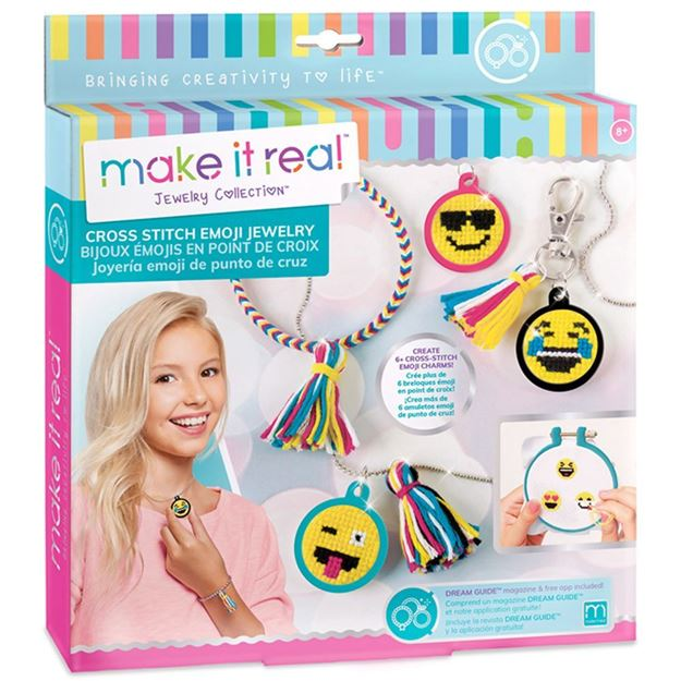 Picture of Make It Real - Cross Stitch Emoji Jewellery