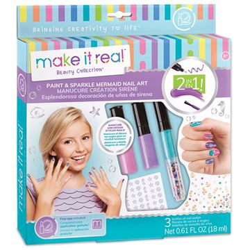 Picture of Make It Real - Paint & Sparkle Mermaid Nail Art