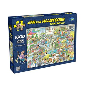Picture of Holdson Puzzle - Van Haasteren Funny World 1000pc (The Holiday Fair)