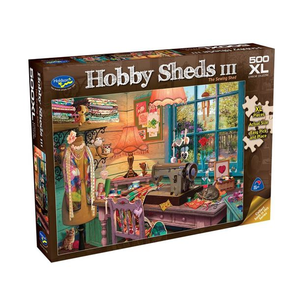 Picture of Holdson Puzzle - The Hobby Sheds III 500pc XL (The Sewing Shed)