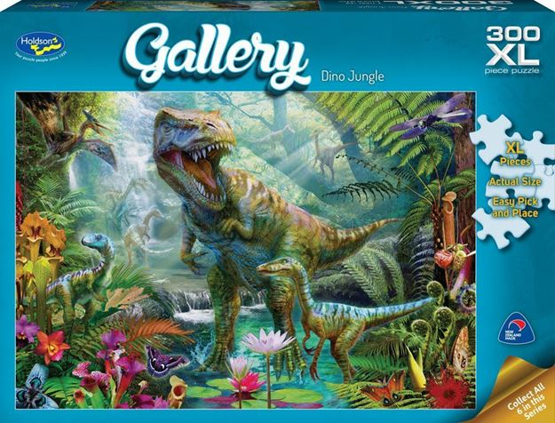 Picture of Holdson Puzzle - Gallery 5 300pc XL (Dino Jungle)