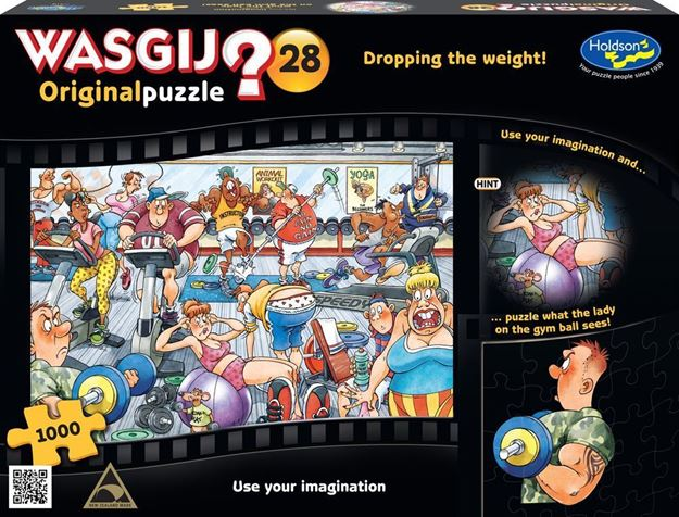 Picture of Holdson Puzzle - Wasgij Original 28 1000pc (Dropping the Weight!)