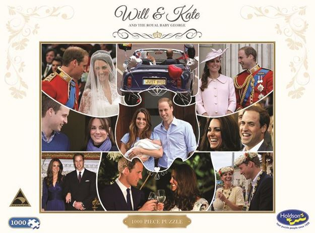 Picture of Combo - Will & Kate 1000pc Puzzle/ Buckingham Palace 3D Puzzle