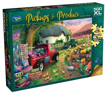 Picture of Holdson Puzzle - Pickups & Produce 500pc XL (Farmhouse Market)