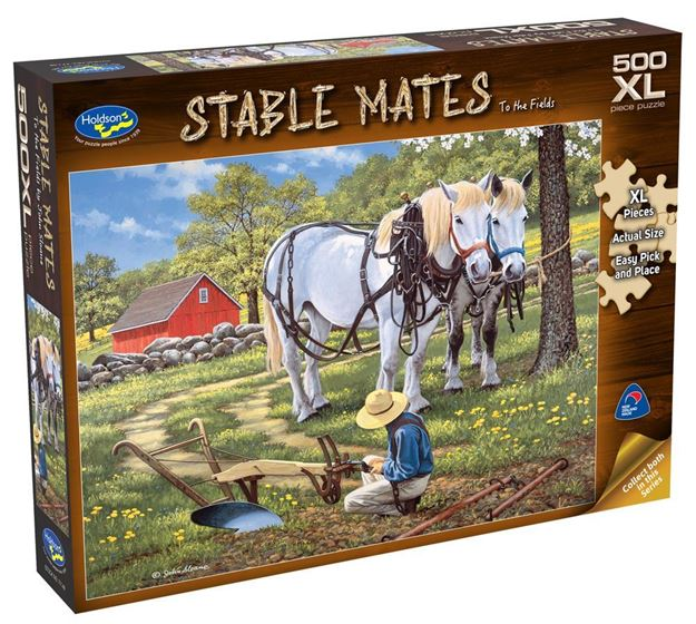 Picture of Holdson Puzzle - Stable Mates 500pc XL (To The Fields)