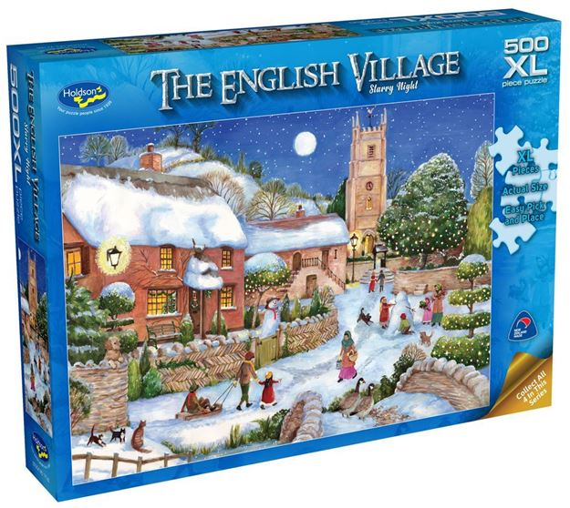 Picture of Holdson Puzzle - The English Village Series 2  XL(Starry Night)