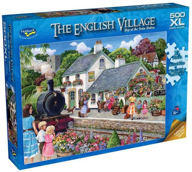 Picture of Holdson Puzzle - The English Village Series 2 XL(At The Train Station)