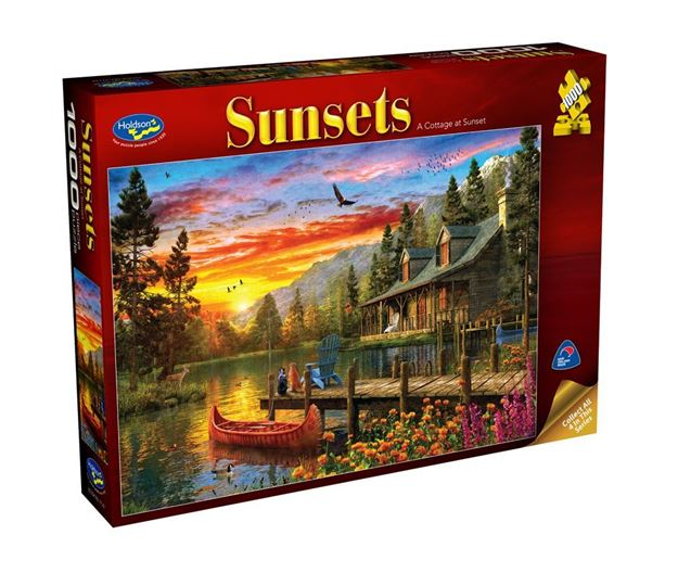 Picture of Holdson Puzzle - Sunsets S3 1000pc (A Cottage at Sunset)
