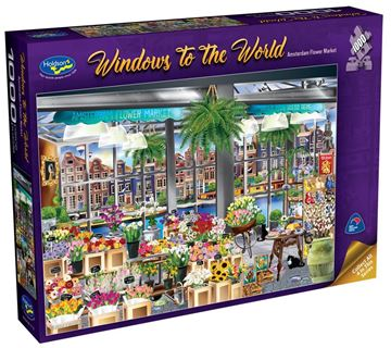 Picture of Holdson Puzzle  - Windows to the World - (Amsterdam Flower Market)