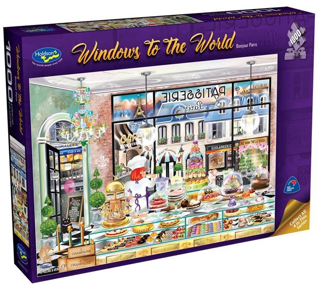 Picture of Holdson Puzzle  - Windows to the World - (Bonjour Paris)