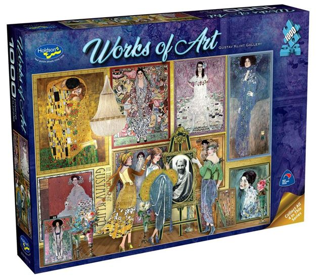 Picture of Holdson Puzzle - Works of Art (Gustav Klimt Gallery)