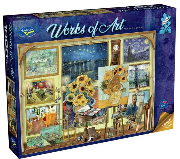 Picture of Holdson Puzzle - Works of Art (Van Gogh Studio)