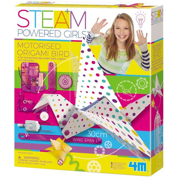 Picture of 4M STEAM Powered Girls - Motorised Origami Bird