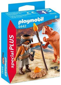 Picture of Playmobil - Caveman with Sabre Tooth