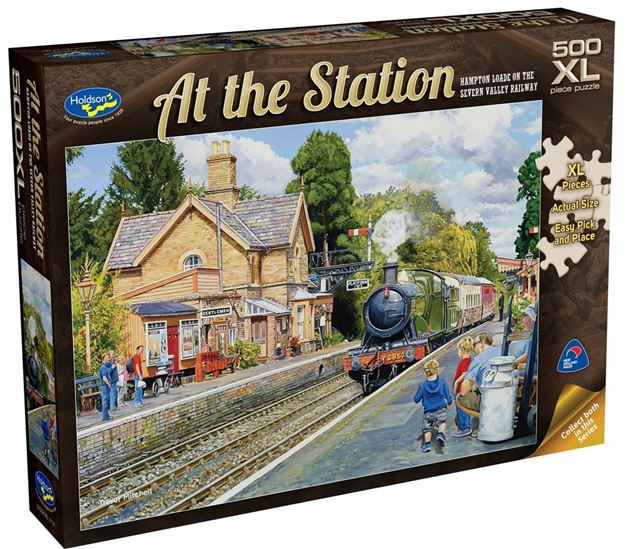 Picture of Holdson Puzzle - At The Station 500pc XL (Hampton Loade On The Severn Valley Railway)
