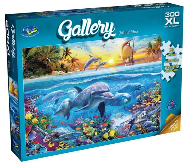 Picture of Holdson Puzzle - Gallery 5 300pc XL (Dolphin Ship)