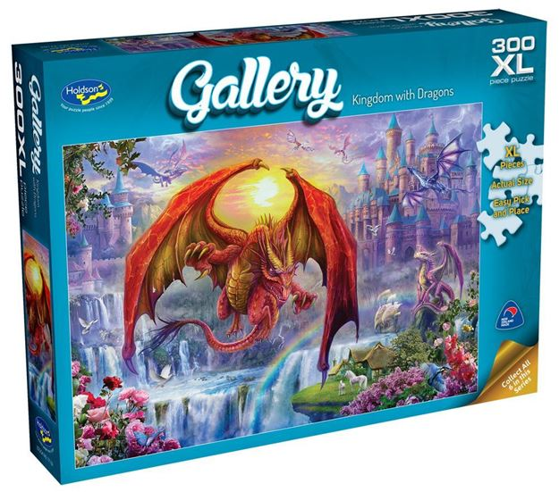 Picture of Holdson Puzzle - Gallery 5 300pc XL (Kingdom with Dragons)