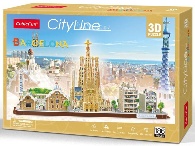 Picture of 3D Puzzle - Barcelona City Line
