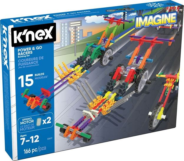 Picture of Knex - Power & Go Racers 166pc Set