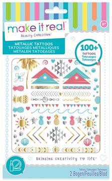 Picture of Make It Real - Metallic Tattoos - Pink