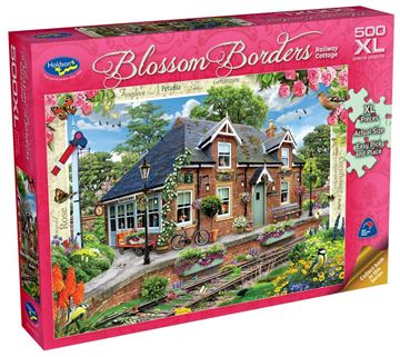 Picture of Holdson Puzzle - Blossom Borders S2 500pc XL (Railway Cottage)