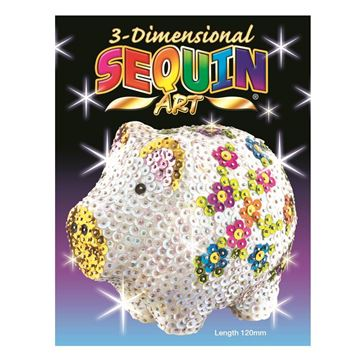 Picture of Sequin Art - 3D Pig