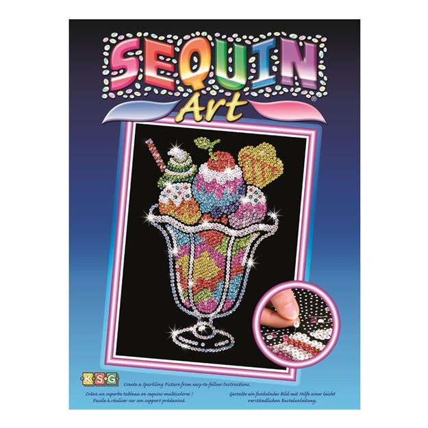 Picture of Sequin Art - Ice Cream