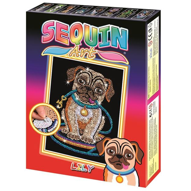 Picture of Sequin Art - Lily Pug