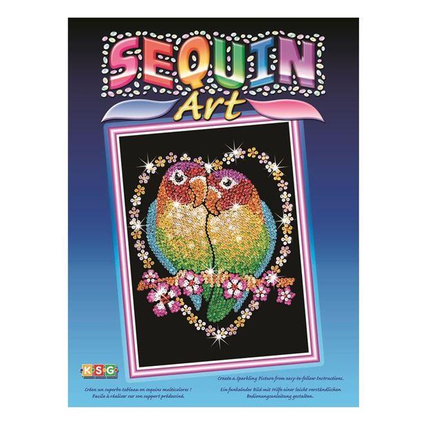 Picture of Sequin Art - Love Birds