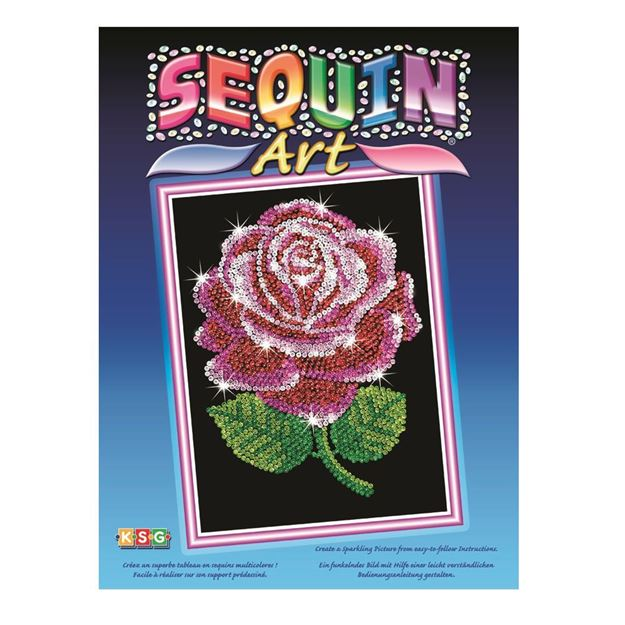 Picture of Sequin Art - Rose