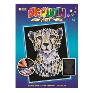 Picture of Sequin Art - Snow Cheetah
