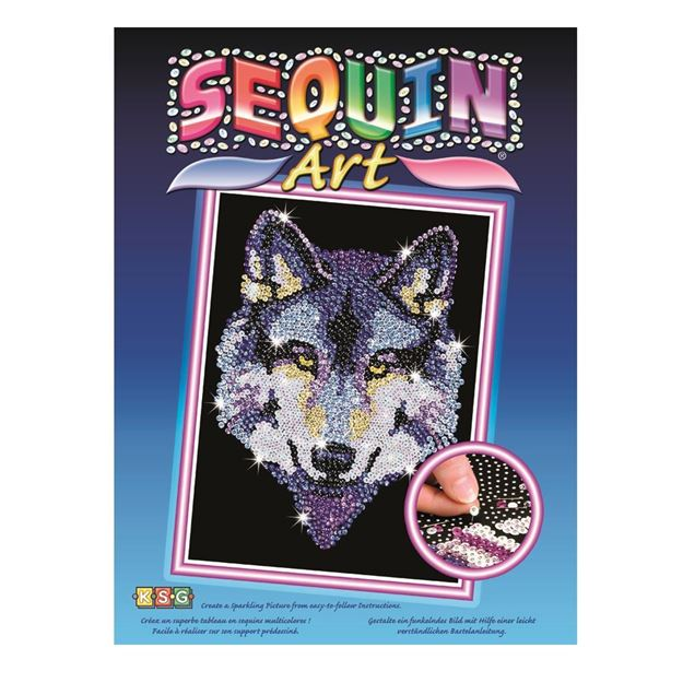 Picture of Sequin Art - Wolf