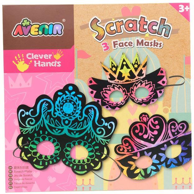 Picture of Avenir - Scratch Art Kit Face Masks