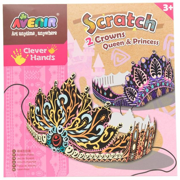 Picture of Avenir - Scratch Art Kit Crown Queen and King