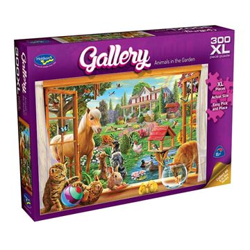 Picture of Holdson Puzzle - Gallery 6 300pc XL (Animals in the Garden)