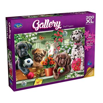 Picture of Holdson Puzzle - Gallery 6 300pc XL (Shelf Puppies)