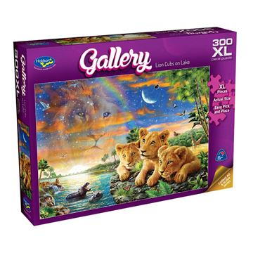 Picture of Holdson Puzzle - Gallery 6 300pc XL (Lion Cubs on Lake)