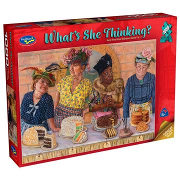 Picture of Holdson Puzzle - What's She Thinking? (And the Blue Ribbon goes to...!)