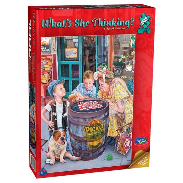 Picture of Holdson Puzzle - What's She Thinking? (Sidewalk Checkers)