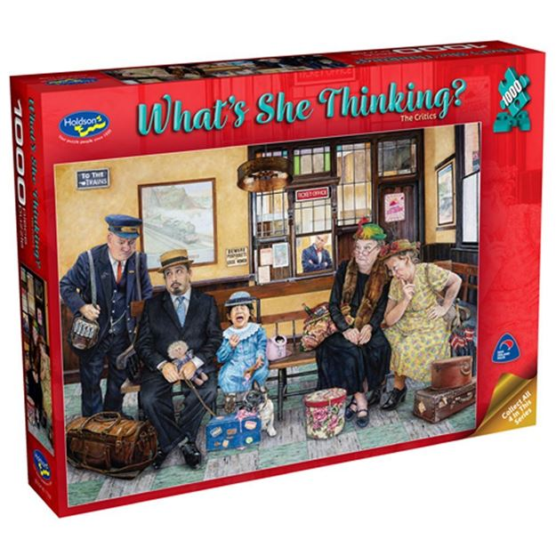 Picture of Holdson Puzzle - What's She Thinking? (The Critics)