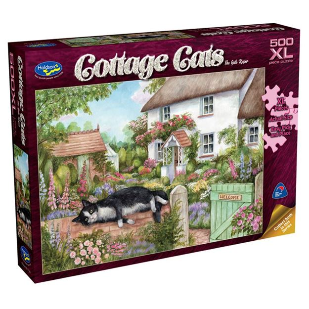 Picture of Holdson Puzzle - Cottage Cats 500pc XL - (The Gate Keeper)