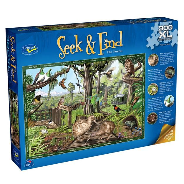 Picture of Holdson Puzzle - Seek & Find 300XL pc (The Forest)